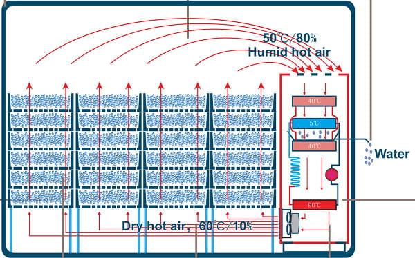 Nguyên lý hệ thống sấy lạnh