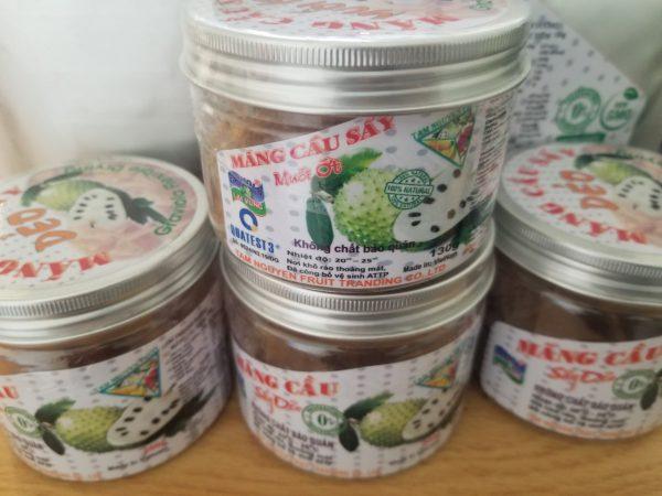 Mảng cầu sấy muối ớt dạng hộp 130g - Soft Dried Soursop chili & salt